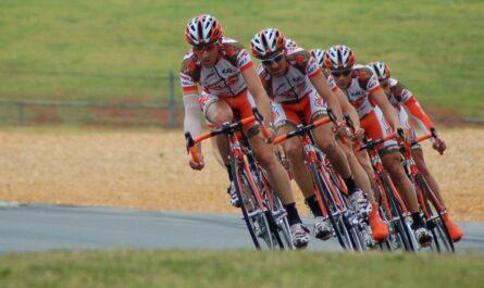 Závodní cyklistika v praxi v podání několik jezdců.